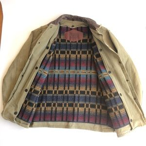 WOOLRICH Mens M Wool Blanket Lined Chore Barn Coat